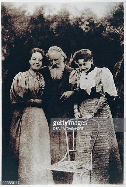 Austria 19th century Gmunden Johannes Brahms with wife and daughter of Viktor von Miller zu Aichholz 1890