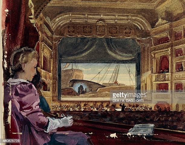 Austria 19th century Interior of the Opera view of the stage from a box Vienna Historisches Museum Der Stadt Wien