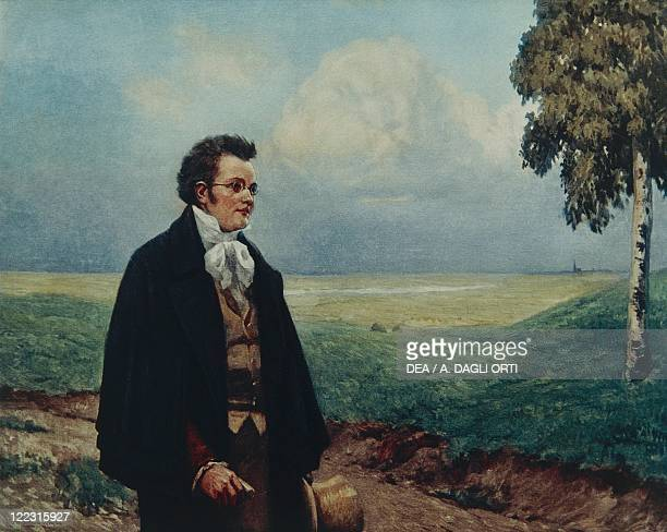 Austria 19th century Portrait of Franz Peter Schubert in the Viennese Countryside
