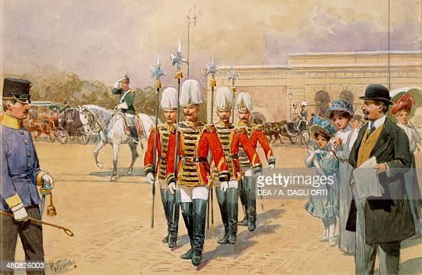 Austria 19th century Vienna Imperial Guard Watercolor Vienna Historisches Museum Der Stadt Wien