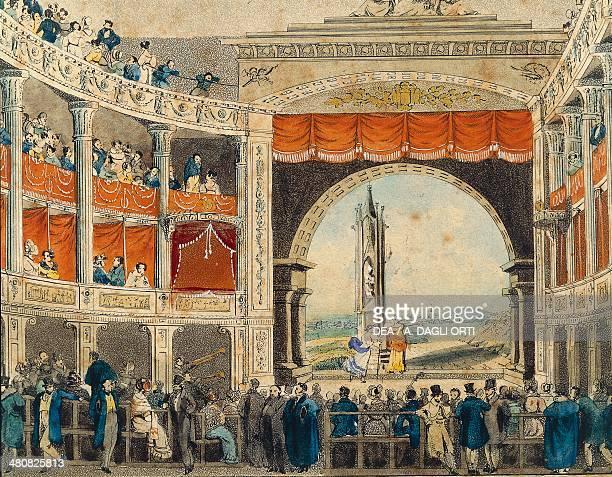 Austria 19th century Vienna Interior of the Theater in der Josefstadt Print Detail Vienna Historisches Museum Der Stadt Wien