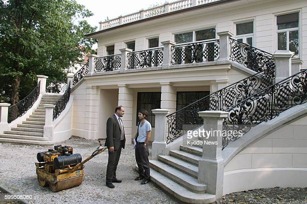VIENNA Austria A building used as a studio by Austrian painter Gustav Klimt is almost completely restored in Vienna on June 26 before its opening to...