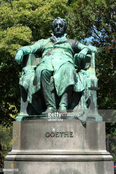 Austria AVienna Danube Federal Capital Goethe Monument by Edmund von Hellmer at the Opernring Vienna Ring Road UNESCO World Heritage Site
