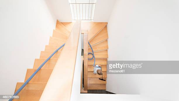 Austria, Boy cleaning stairs