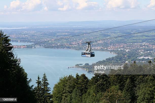 österreich cablecar mountain pfänder - vorarlberg stock-fotos und bilder