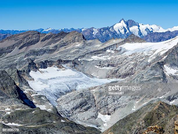 Austria, Carinthia, Hohe Tauern, view from Baumbachspitze to Sonnblick
