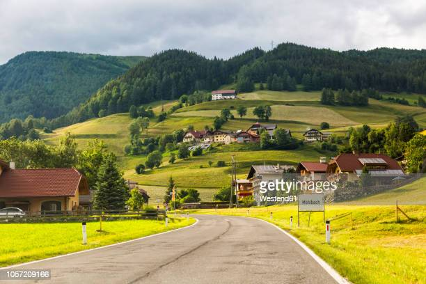 austria, carinthia, katschberg, muehlbach - village stock pictures, royalty-free photos & images