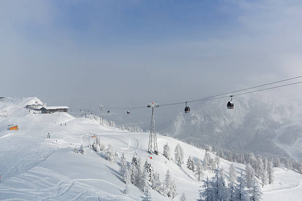 Austria, Carinthia, Millenium Express cable car at Nassfeld