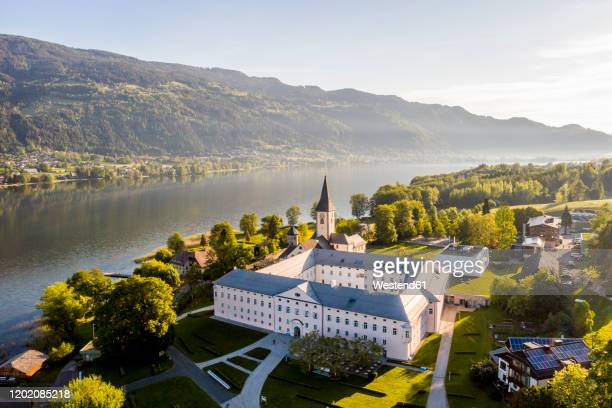 austria, carinthia, oissach collegiate church - austria stock pictures, royalty-free photos & images