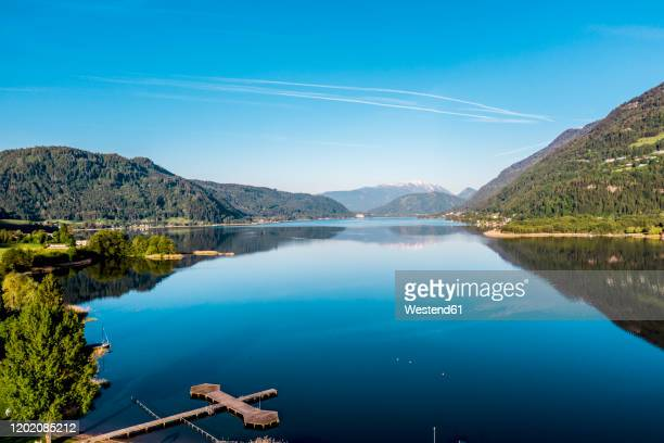 austria, carinthia, oissach lake - austria stock pictures, royalty-free photos & images