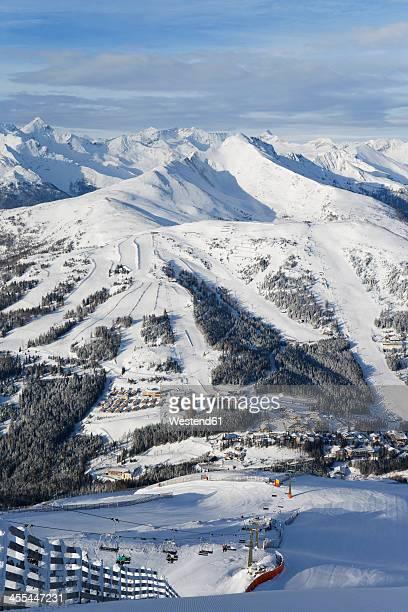 Austria, Carinthia, Salzburg, View from Aineck mountain