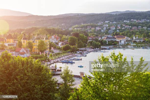 austria, carinthia, velden at lake woerthersee - carinthia stock pictures, royalty-free photos & images