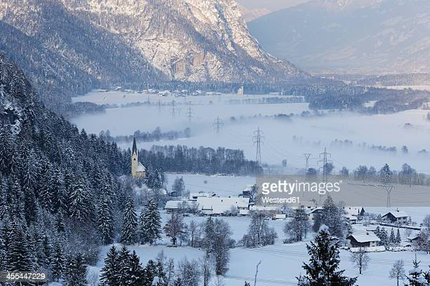austria, carinthia, view of drau valley - carinthia stock pictures, royalty-free photos & images