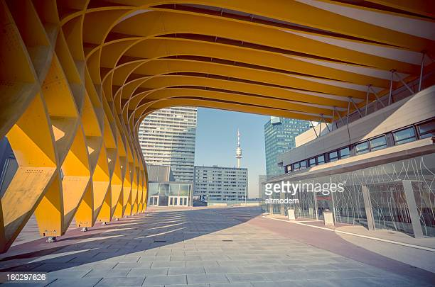 austria center vienna - vienna austria stock pictures, royalty-free photos & images