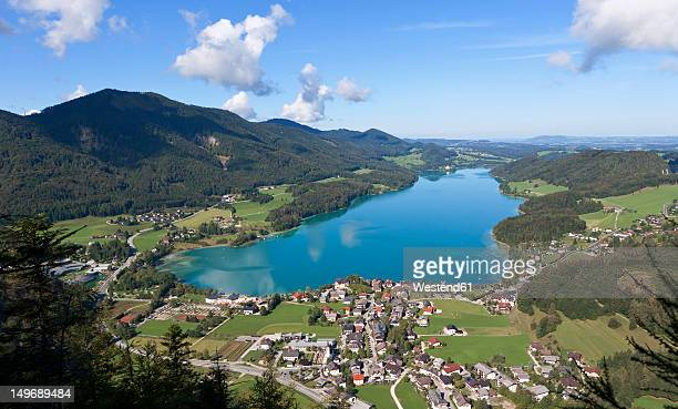 Austria, Fuschl, View of town with Fuschlsee Lake