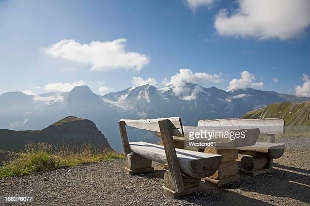 Austria, Grossglockner, High Alpine road with picnic area