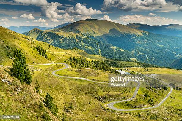 austria, hohe tauern, nockalm scenic road in the nock mountains - carinthia stock pictures, royalty-free photos & images
