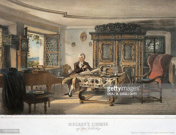 Austria Kahlenberg Wolfgang Amadeus Mozart in his study in Kahlenberg near Vienna