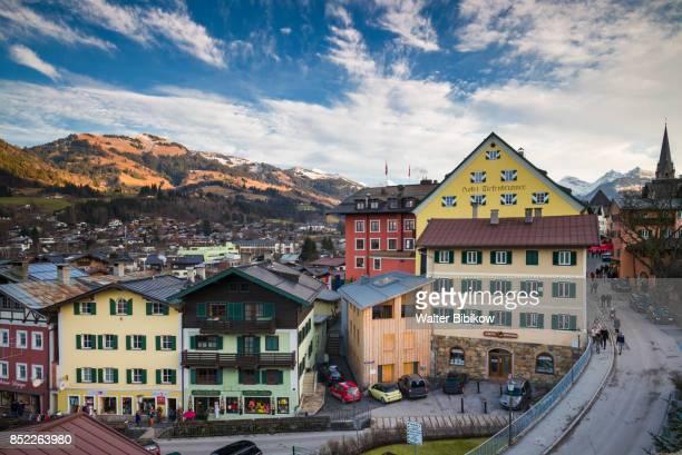 austria, kitzbuhel, exterior - kitzbühel stock pictures, royalty-free photos & images