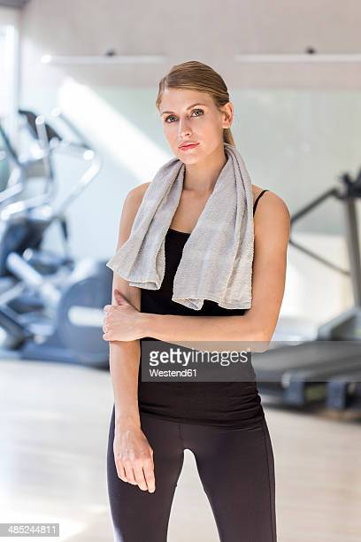 Austria, Klagenfurt, Woman standing in gym