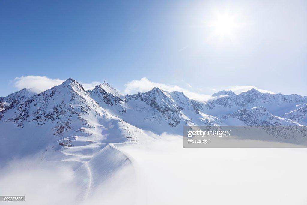 Austria, Kuehtai, mountainscape in winter : Stockfoto