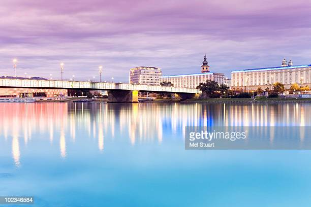 Austria, Linz, Bridge over Danube river