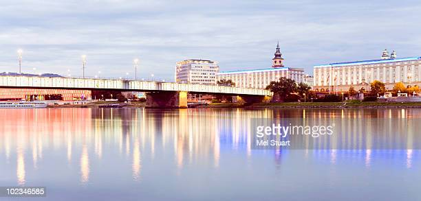 Austria, Linz, Bridge over Donau river