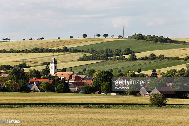 Austria, Lower Austria, Weinviertel, Grossmugl, , View of town