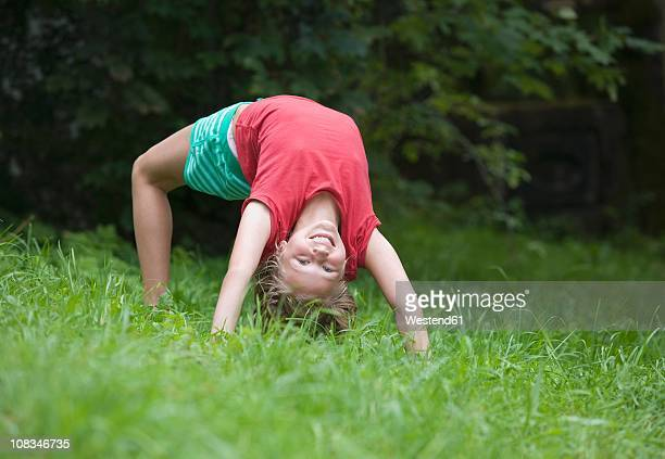 austria, mondsee, girl (12-13 years) smiling, portrait - 12 13 years stock photos and pictures