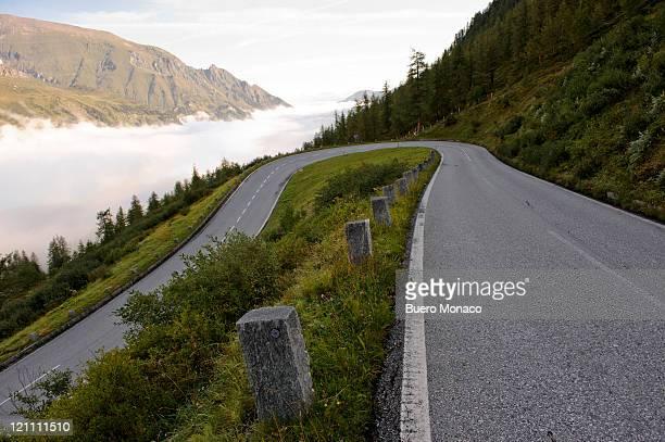 austria, mount grossglockner high alpine road, fog