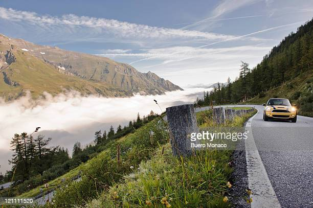 austria, mount grossglockner high alpine road, fog