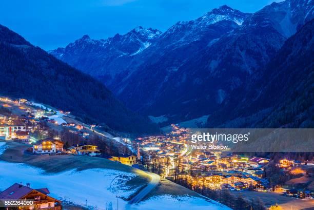 austria, otztal, exterior - sölden stock-fotos und bilder