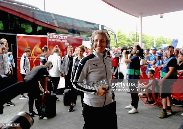 Austria players arrive during the UEFA Women's Euro 2017 Group C match between France and Austria at Stadion Galgenwaard on July 22 2017 in Utrecht...