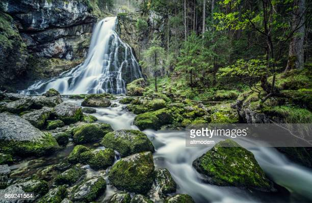 Austria, Salzburg, Beautiful waterfall in Golling