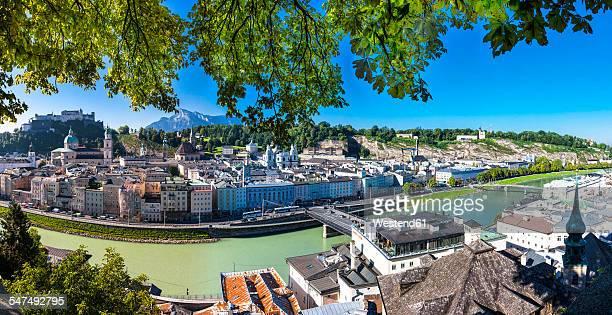 Austria, Salzburg, cityscape as seen from Kapuzinerberg