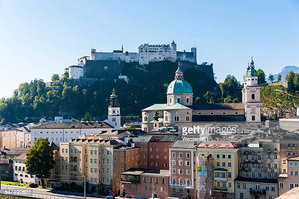 Austria, Salzburg, cityscape as seen from Kapuzinerberg