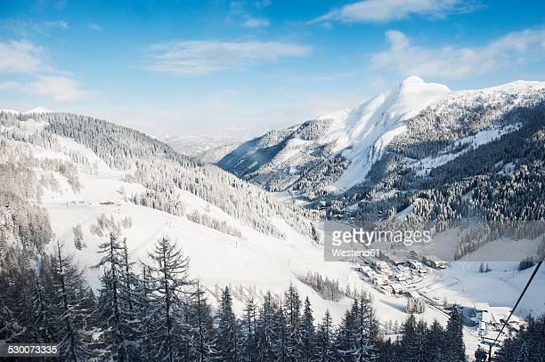 Austria, Salzburg State, Altenmarkt-Zauchensee, alpine landscape in snow