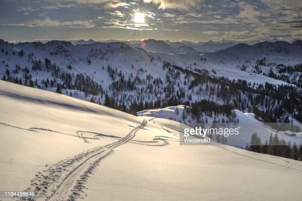 austria, salzburg state, kleinarl, penkkogel, icy road - alpine skiing stock pictures, royalty-free photos & images
