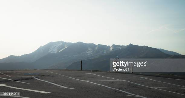 Austria, Salzburg State, motorbike on parking place at Grossglockner High Alpine Road