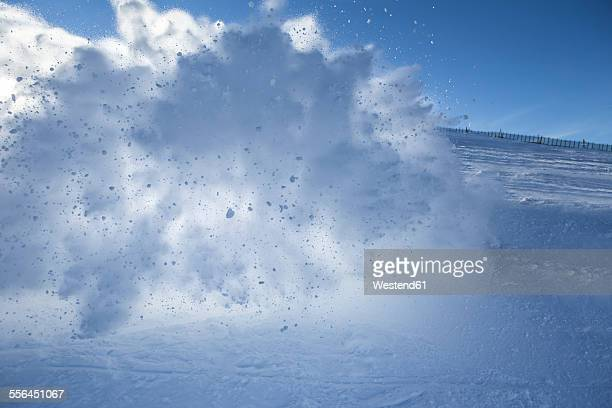 Austria, Salzburg State, ski piste, whirling snow