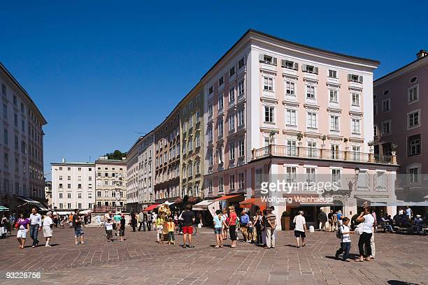 austria, salzburg, view over old market - salzburger land stock pictures, royalty-free photos & images