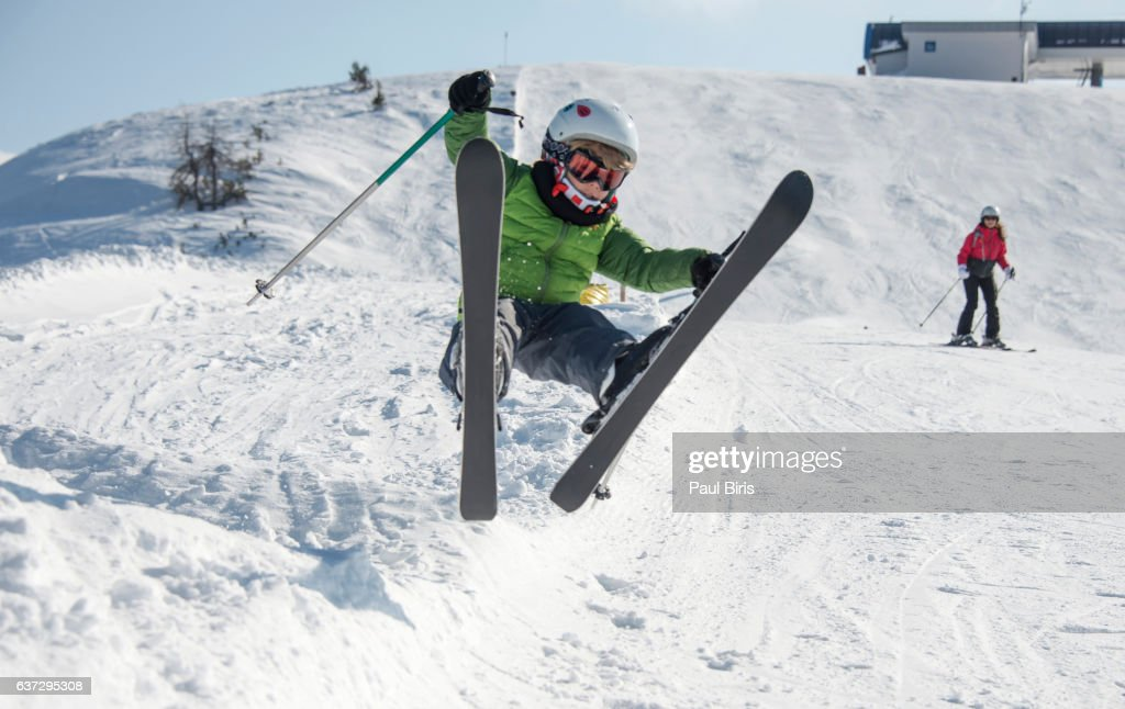 Austria, Salzburg, Zauchnsee.The ski area Zauchensee is located at the center of the sports world of Salzburg and part of the Skiverbund Amade.