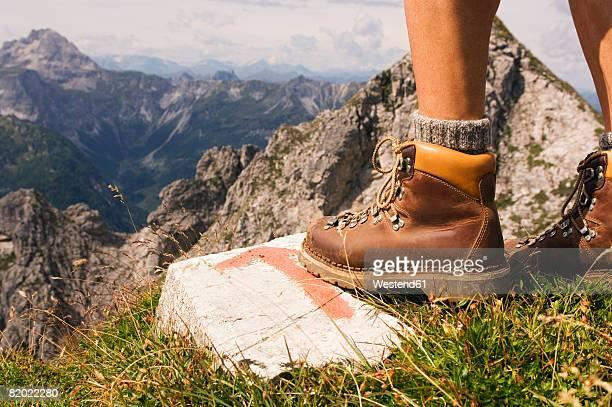 Austria, Salzburger Land, person hiking, low section