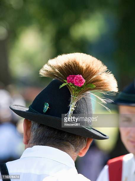 austria, salzkammergut, land salzburg, men wearing traditional costume with hat - traditional clothing stock pictures, royalty-free photos & images