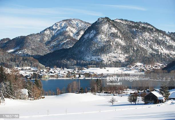 Austria, View of Fuschlsee Lake