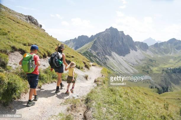 austria, south tyrol, family hiking - alto adige bildbanksfoton och bilder