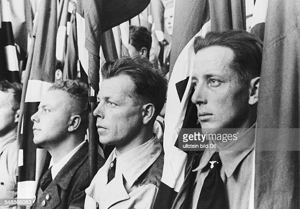 Austria Styria Graz: In prepraration of the plebiscite for the ' Anschluss ' of Austria and the election of the ' Grossdeutscher Reichstag ' - SA men...