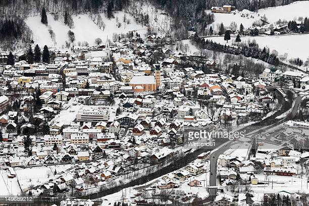 austria, styria, view of schladming town - schladming stock pictures, royalty-free photos & images