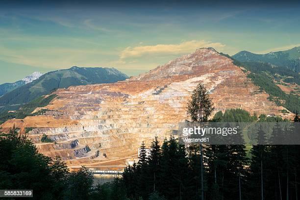 Austria, Styria, View to Erzberg mine