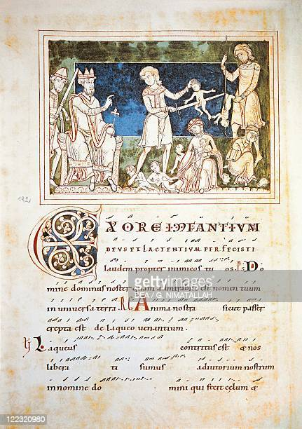 Austria The massacre of the innocents miniature from the Antiphonary of Saint Peter facsimile